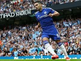Falcao, durante un partido del Chelsea. Twitter