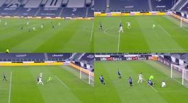 Incredible miss from Morata. Screenshots/Vamos