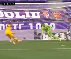 A terrível falha de Griezmann em um gol feito. Captura/BeINSports
