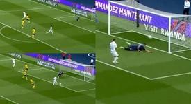 Icardi cometió un fallo estrepitoso. Capturas/BeINSports