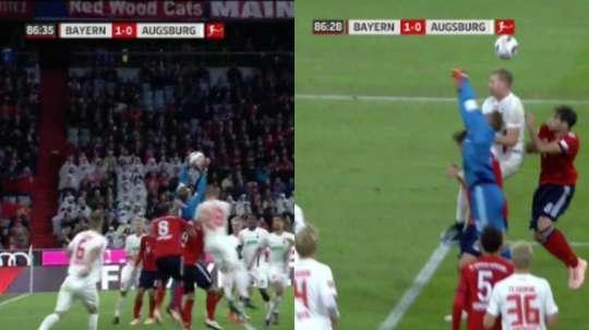 Neuer protagonizó un terrible fallo. Captura/FOX Sports