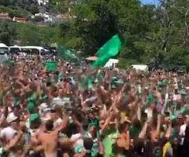 Locura antes de la Taça de Portugal. Captura/Sporting_CP