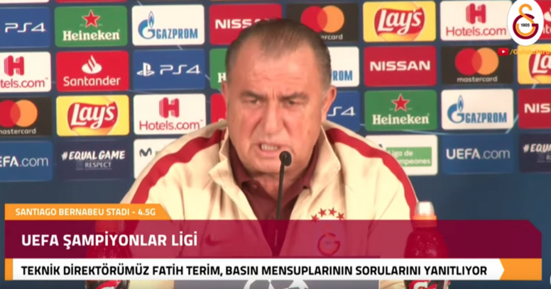 Fatih Terim piensa en Europa League. Youtube/Galatasaray