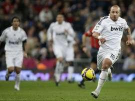 Faubert, durante su etapa en el Real Madrid. Twitter.