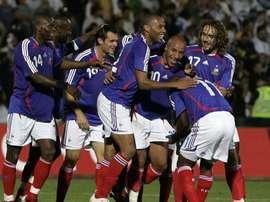 Faubert a été le premier à récupérer le numéro 10 après la retraite internationale de Zidane. AFP