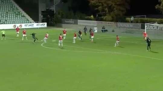Fauber marcó el primer gol del Inter Turku ante el HIFK. Captura/Twitter