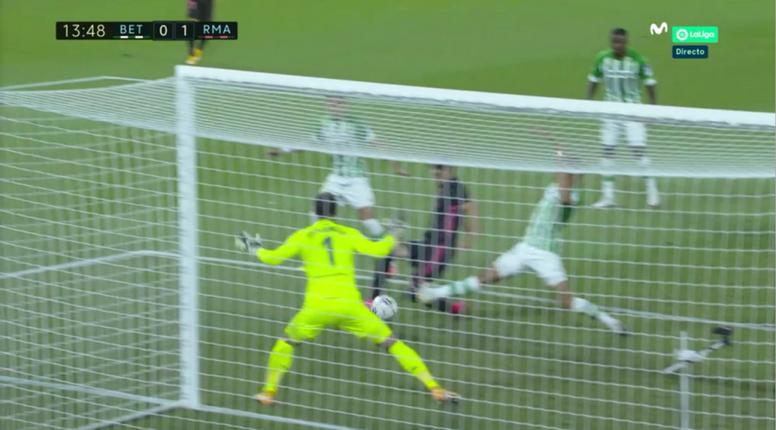 Contra o Betis, Valverde marcou o primeiro gol do Real Madrid na temporada. Captura/MovistarLaLiga
