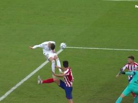 O erro absurdo de Valverde na final da Supercopa. Captura/Movistar+