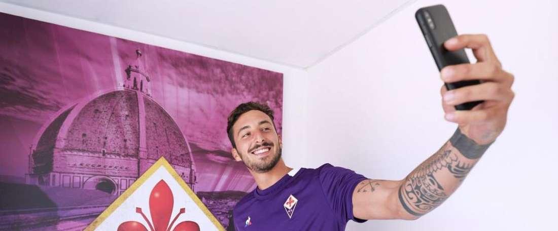 Ceccherini a signé pour quatre saisons. Twitter/QCFFiorentina