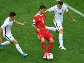 Russia's Fedor Smolov: goalscorer against New Zealand. AFP