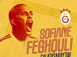 Feghouli, o novo jogador do Galatasaray. Twitter/Galatasaray