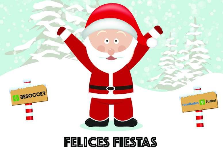 Felicitación de Navidad de RF y BeSoccer.