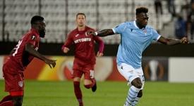 El Cluj da la sorpresa contra la Lazio. Twitter/OfficialSSLazio