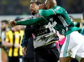 Tensions boiled over between Penarol and Palmeiras and both sets of fans in Montevideo. AFP