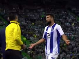Monteiro was booked for wearing a team-mate's shirt. Screenshot