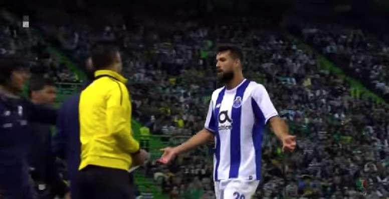 Monteiro was booked for wearing a team-mate's shirt. Screenshot