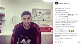 Fellaini fait part de sa nouvelle coupe. Instagram/fellaini