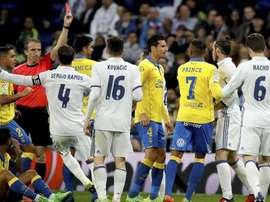 Bale acabou sendo expulsado no confronto contra Las Palmas. Juanjo Martín/EFE/Arquivo