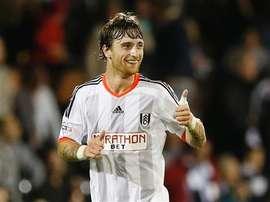 Fernando Amorebieta, en un partido con el Fulham. MFC