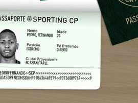 Le Shakhtar Donetsk prêt Fernando dos Santos. SportingCP