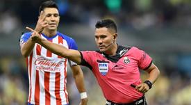 Fernando Guerrero tuvo mucho trabajo en el 'clásico' mexicano. Twitter/FMF