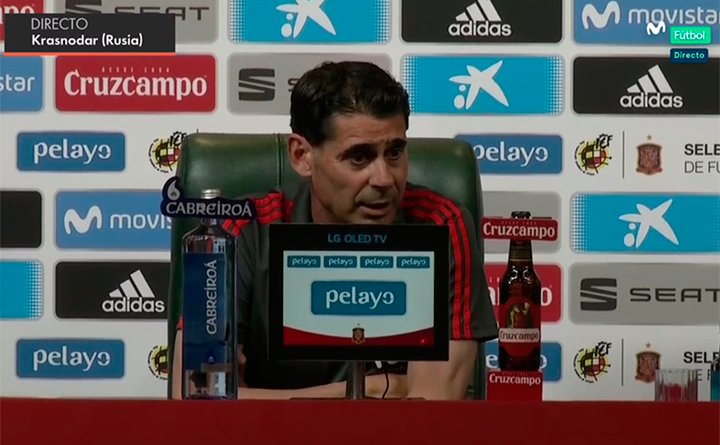Hierro admits that it won't be easy. Captura/Movistar
