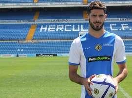 Román se perderá el próximo encuentro de Liga del conjunto alicantino frente al Lleida. HérculesCF