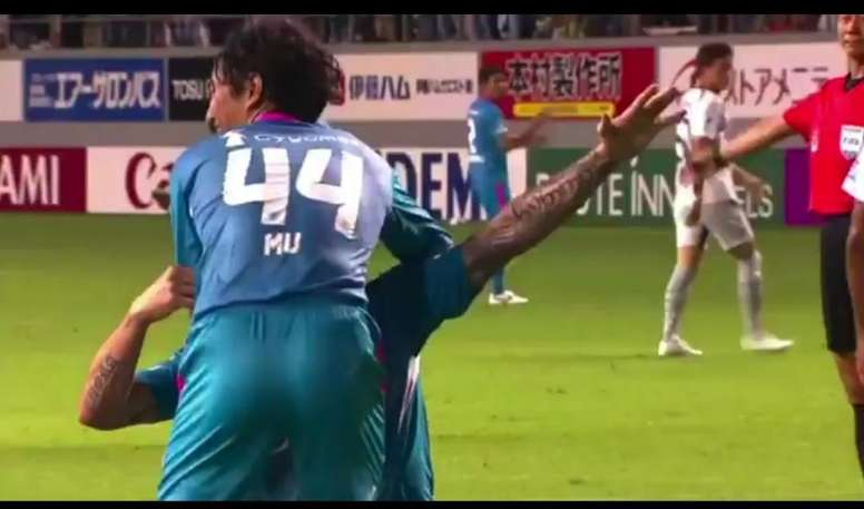 Torres revived the celebration after his headed goal. Screenshot/JLeague