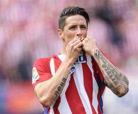 Fernando Torres a signé un doublé contre l'Athletic Bilbao en Liga. ClubAtléticodeMadrid