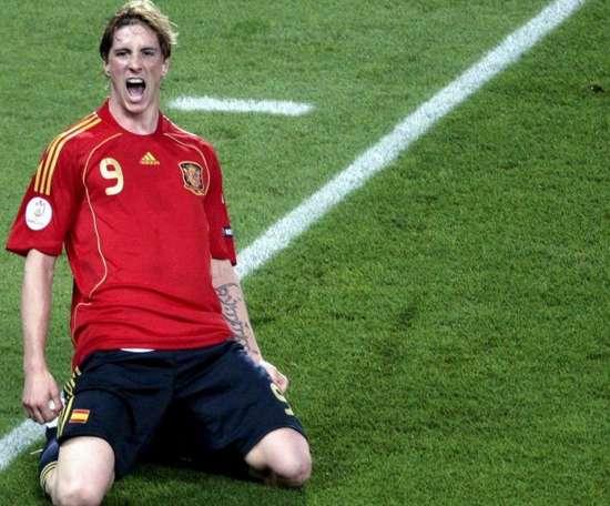 Torres marcó el gol definitivo para ganar la Eurocopa 2008. EFE