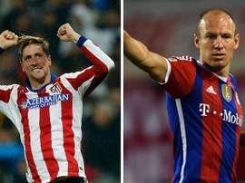 Fernando Torres y Arjen Robben, ambos tienen 30 años. Solamentefutbol
