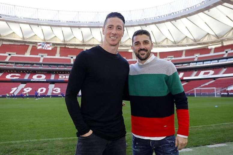 El adiós de Torres será ante Iniesta y Villa. Twitter/Atleti