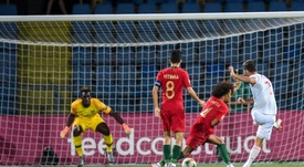 Portugal foi derrotado pela Espanha na final do Europeu Sub-19. Twitter/SeFutbol