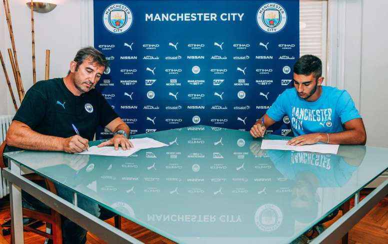 Ferran Torres signed for city in early August. Twitter/ManCity