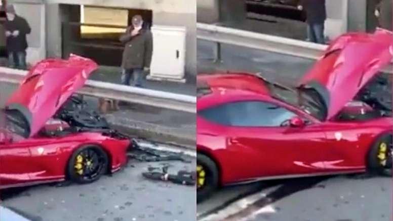 Varios usuarios de Twitter publicaron vídeos del coche. Capturas/Twitter