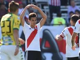 Ferreira dirigió la victoria de River ante Newell's. EFE/Archivo