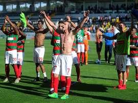 A equipa portuguesa venceu por 2-0 e seguiu para a próxima fase. Twitter