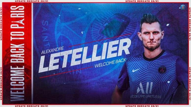 Letellier será el tercer portero del PSG. Twitter/PSG_inside