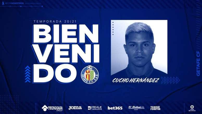 Cucho has signed for Getafe. Twitter/GetafeCF