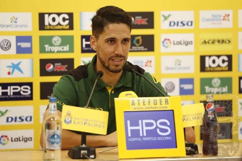 El futbolista de Las Palmas fue clave para conseguir los tres puntos. LasPalmas