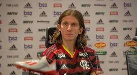 Filipe Luis falou sobre sua episódios da definição de seu futuro. Twitter/Flamengo