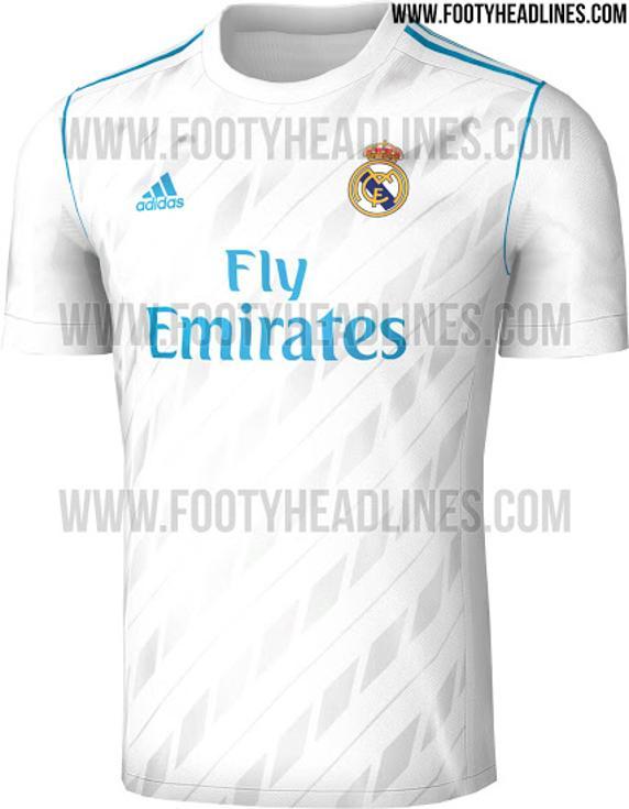 355472ec8f9c6 Pin Esta será la primera camiseta del Real Madrid para la 17-18.  FootyHeadlines