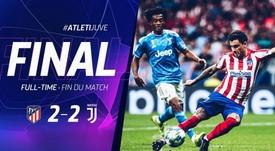 Atlético arranca empate contra a Juventus. Twitter.com/Atleti
