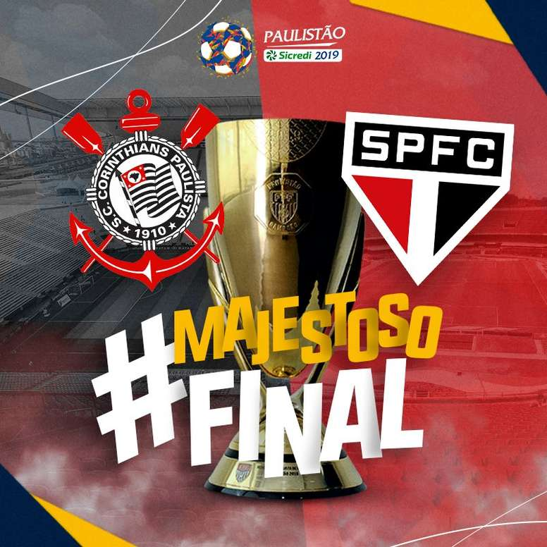 Prováveis escalações de São Paulo e Corinthians. Twitter @FPF_Oficial