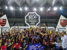 O Flamengo venceu a Taça Rio. Flamengo