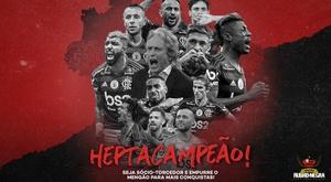 Flamengo champion du brésil moins de 24 heures après son triomphe en Copa Libertadores.  Flamengo