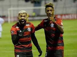 Flamengo recebe a LDU na Libertadores. Twitter @esporteflamengo
