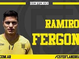 Flandria presenta a su nuevo delantero Ramiro Fergonzi. FlandriaOficial