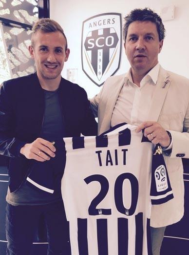 Flavien Tait, nuevo jugador del Angers SCO. Angers