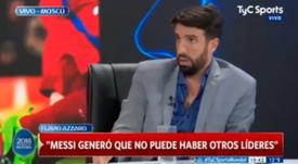 Les critiques s'abattent sur Leo Messi. Captura/TyCSports